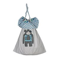 Reversible Laundry Bag in Monkey print from Cloud Cuckoo