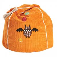 Orange Bat Star Beanbag Cover from Monster Couture