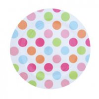 Set of 4 Dotty Picnic Plates from Navigate