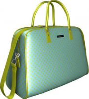 Uchi Pale Blue Polka Dot Baby & Travel Bag