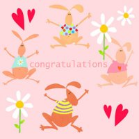 Congratulations Greeting Card - Pink