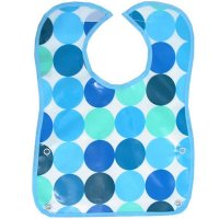 Pop bib: Disco Spot Blue