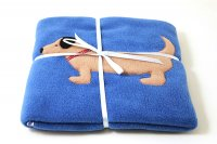 Appliqued Fleece Blanket - Sausage Dog