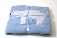 Appliqued Fleece Blanket - Polar Bear