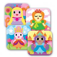 Set of 4 Princess Plates
