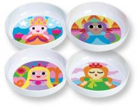 Set of 4 Princess Bowls