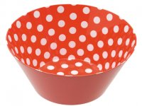 Large Red Spot Melamine Bowl