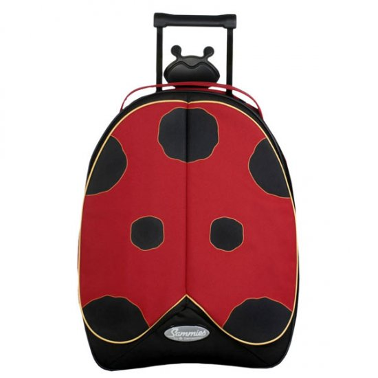 Sammies Pully 2 Children's Suitcase - Ladybird - Click Image to Close