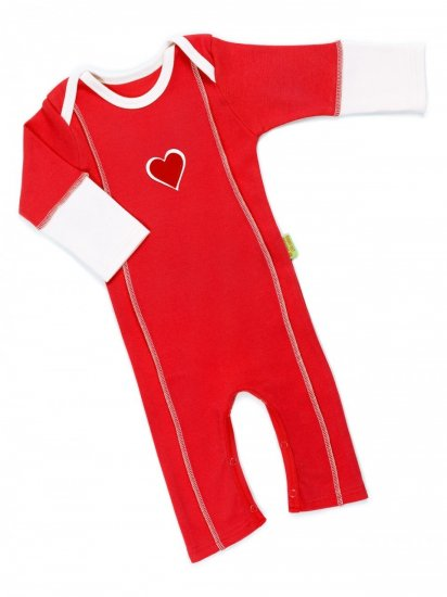 Red Heart Playsuit from Funky Feet Fashions - Click Image to Close