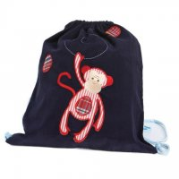 Kit Bag from Cocoon Couture - Mini Monkey in Red on Blue