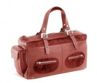 Red Petit Planet Leather Baby Changing Bag
