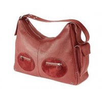 Red Leather Hobo Baby Bag from Petit Planet