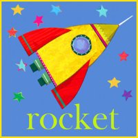 Greeting Card - Rocket
