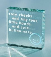 Rosy Cheeks Blue Medium Paperweight by Spaceform