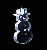 Single Changing Led Light Mobile: Snowman