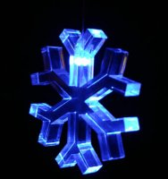 Single Changing Led Light Mobile: Snowflake