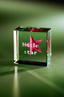 Little Star Glass Text Token in Pink by Spaceform