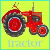 Greeting Card - Tractor