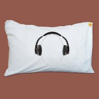 Headphone Pillowcase from Twisted Twee
