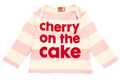 Cherry On The Cake Baby T-Shirt from No Added Sugar - Click Image to Close
