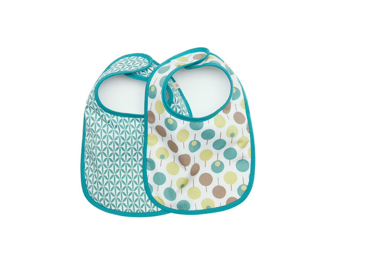 Ella & Otto Bib Set in Lollipop Sea
