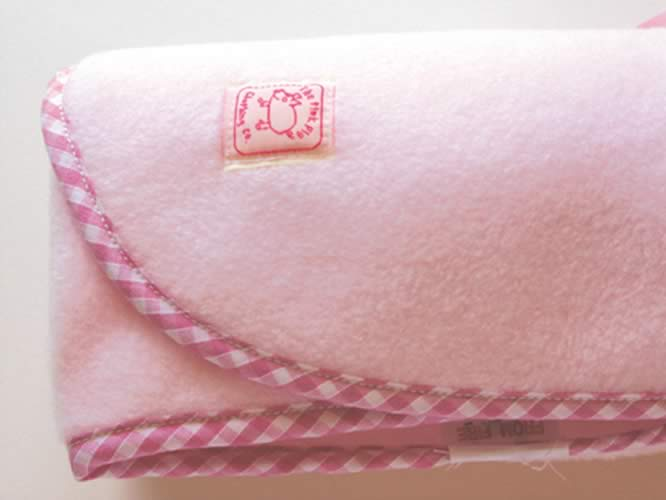 Luxury Fleece Blanket in Pale Pink - Click Image to Close