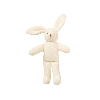 Rabbit with rattle: White