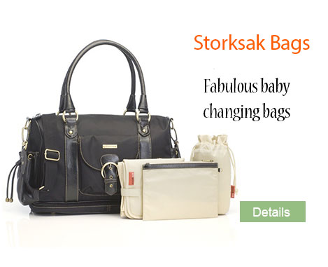 Baby changing bags from Storksak
