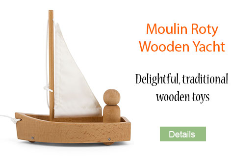Wooden yacht from Moulin Roty