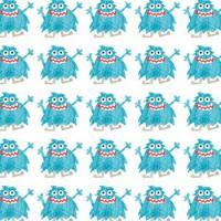 Blue Monster Gift Wrap