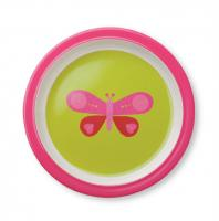 Pink Butterfly Plate from Crocodile Creek