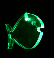Single Changing Led Light Mobile: Fish