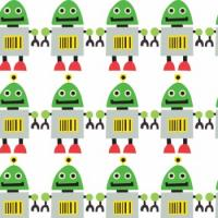Green Robot Gift Wrap