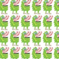 Green Monster Gift Wrap