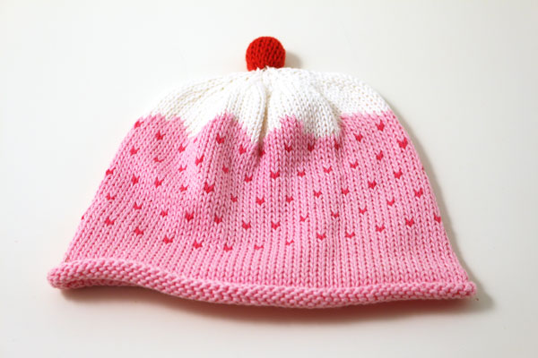 Merry Berry Cupcake Knitted Baby Hat - Click Image to Close
