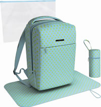 Uchi Pale Blue Polka Dot Baby Backpack - Click Image to Close