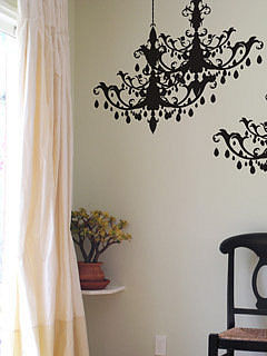 Chandelier Wall Decals in Midnight by Blik - Click Image to Close