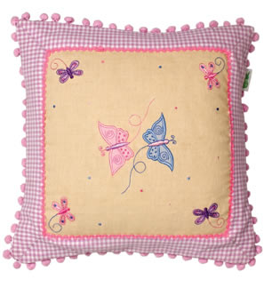 Butterfly Cottage Cushion Cover from Win Green - Click Image to Close