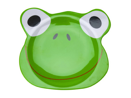 Funny Frog Melamine Breakfast Plate - Click Image to Close