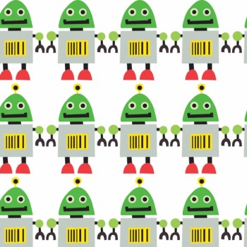 Green Robot Gift Wrap - Click Image to Close