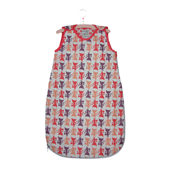 Baby Sleeping Bag 2.5 tog in Kitty Print from Cloud Cuckoo - Click Image to Close