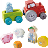 Farm Play Set Out and About with the Tractor from Haba